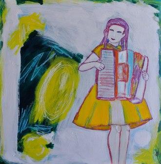 """""""Accordion Girl"""" -Allegra Sleep"""